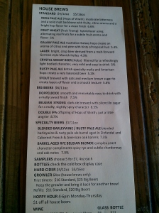 A Great Beer List