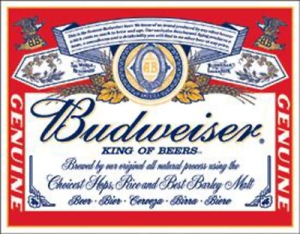 Budweiser label