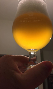 The Saison Delores. A pretty beer in this light!