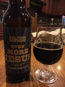 Even More Jesus is an incredible imperial stout. One of Drew's favorites, and for good reason.