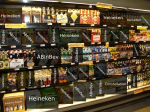 The same image as above, with the macro beers marked. Shocking?