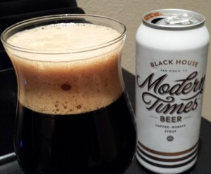 One of the Scotsman's favorite beers these days. The Black House Coffee Stout from Modern Times!